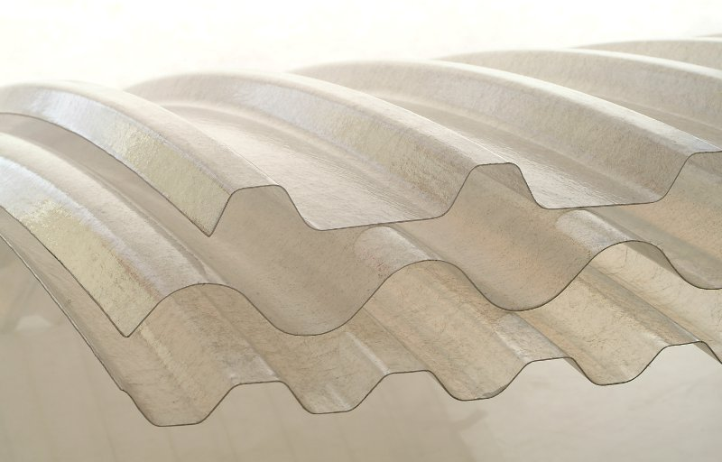 transucent curved sheet